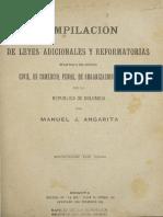 Angarita, Manuel. Compilación de Leyes