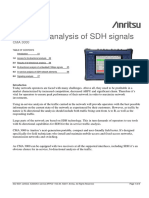 App Note CMA 3000 in-service Analysis of SDH Signals A4 Final V3