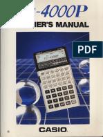 FX-4000P English Manual