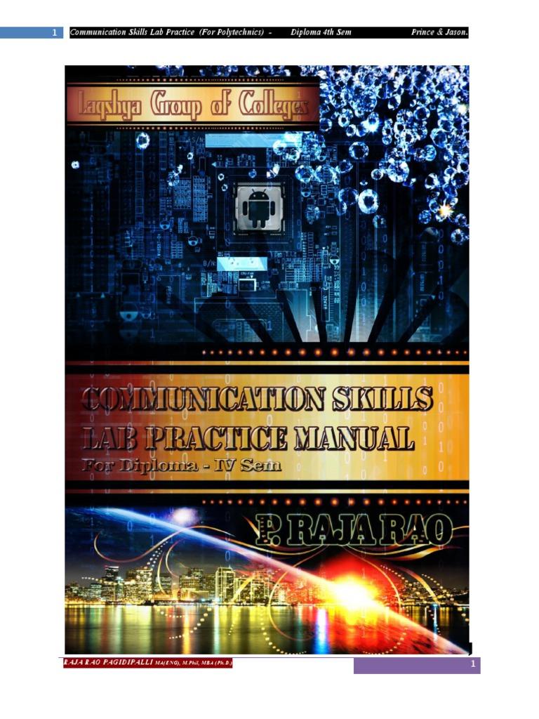 Communication Skills Lab Practice Manual (For Polytechnics