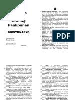 Araling Panlipunan Dictionary