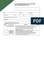 PA 2014 Application Form