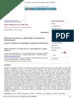 Bosque (Valdivia) - Variación Genética en Nothofagus (Subgénero Nothofagus)