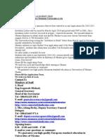 Admission 2010-2011 Academic Year