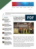 KI Papua Serahkan Penghargaan Kepada Badan Publik UU KIP