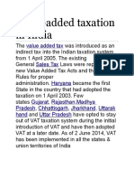 Value Added Tax