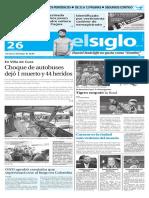 Edición Impresa Elsiglo 26-01-2016