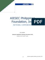 AIESEC Philippines National Compendium [DEC NLM 2015]