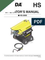 Landa HS-3000 Operator Manual