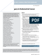The Role Of Surgery in Endometrial Cancer