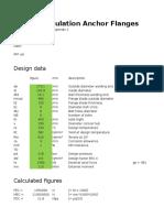 Design Calculation Anchor Flange - ASME VIII Div 1