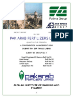 Pak Arab Fartilizers Report