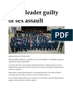 30 Aug 2010 - Cadet Leader Guilty of Sex Assault