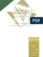 Manual de Estilo y Procedimientos PRIMERA EDICIÓN