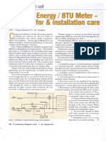 BTU meter Installation Guide