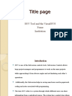 SNV Tool and the VisualSVN