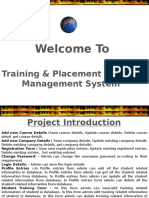 Training and Placement System