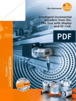 Intelligent incremental encoders from ifm. The first with display and IO-Link.