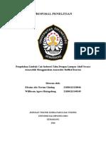 Proposal Penelitian Pengolahan Limbah Cair Tahu