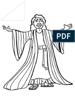 Joseph and His Coat - Coloring Page