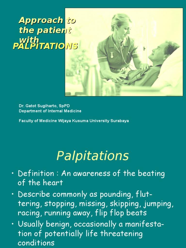 Palpitation Deutsch