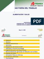 SEGURIDAD FUERA DEL TRABAJO-ALIMENTACIÓN Y SALUD