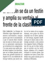160126 La Verdad CG- El Lincoln Se Da Un Festín y Amplía Su Ventaja Al Frente de La Clasificación p.14