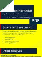 unit 14 - lesson 2 -government intervention