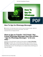 How to Spy on Whatsapp Messages _ Whatsapp Spy