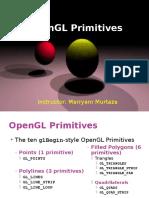 Lec 12 OpenGL Primitives