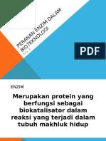 Peranan Enzim Dalam Bioteknologi