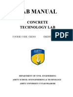 Concrete Technology (Lab Manual)