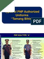 Types of Pnp Authorized Uniforms Tamang Bihis