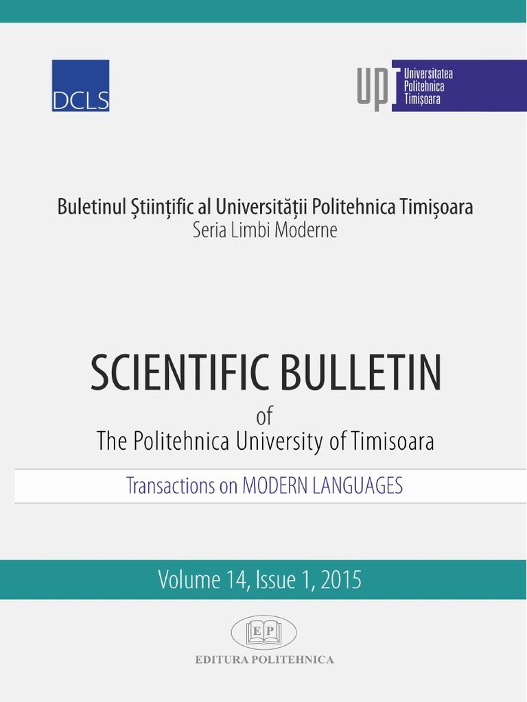 Scientific Bulletin, Transactions on Modern Languages | Zionism ...