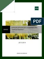 1ª Parte Guía de Estudio Derecho Romano 2013-2014