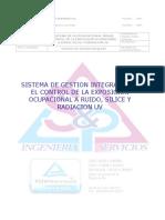Sistema Gestión Control Exposición a Ruido, Sílice y Rx UV