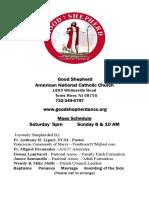 Good Shepherd ANCC Weekly Bulletin