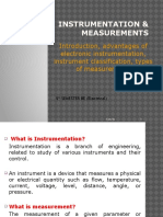 Lect No. 1 Introduction, Advantages of Electronic Instrumentation, Instrument Classification, Types of Measurement