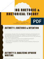 Rhetorical Theory, Chapter  1