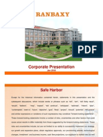 Corporate Presentation of ranbaxy