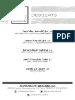 Julia Pearl dessert menu