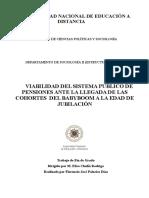 Viabilidad Del Sistema Público de Pensiones Ante La Llegada de Las Cohortes Del Babyboom a La Edad de Jubilación (1)
