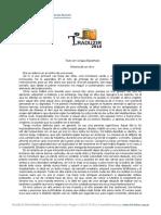 Texto em espanhol - Traduzir 2016