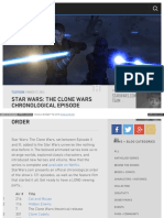 Star Wars 3D Chronology