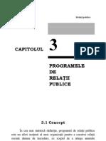 Programele de relatii publice