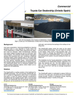 SolarDuct Case Study - Toyota Car Dealership (Oviedo Spain) (rooftop solar air heating system)
