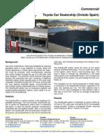 SolarDuct Case Study - Toyota Car Dealership (Oviedo Spain) (rooftop solar air heating system)