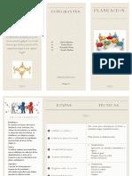 Triptico de Planeación-Administración