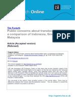 forsyth Public Concern About Transboundary Haze 2014