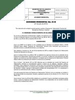 Acuerdo Municipal 010 de 2010